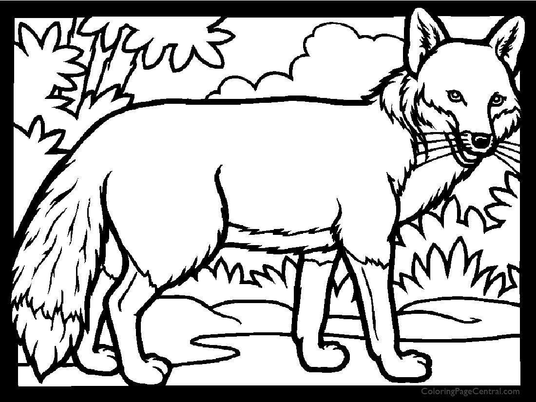 Fox 01 Coloring Page | Coloring Page Central