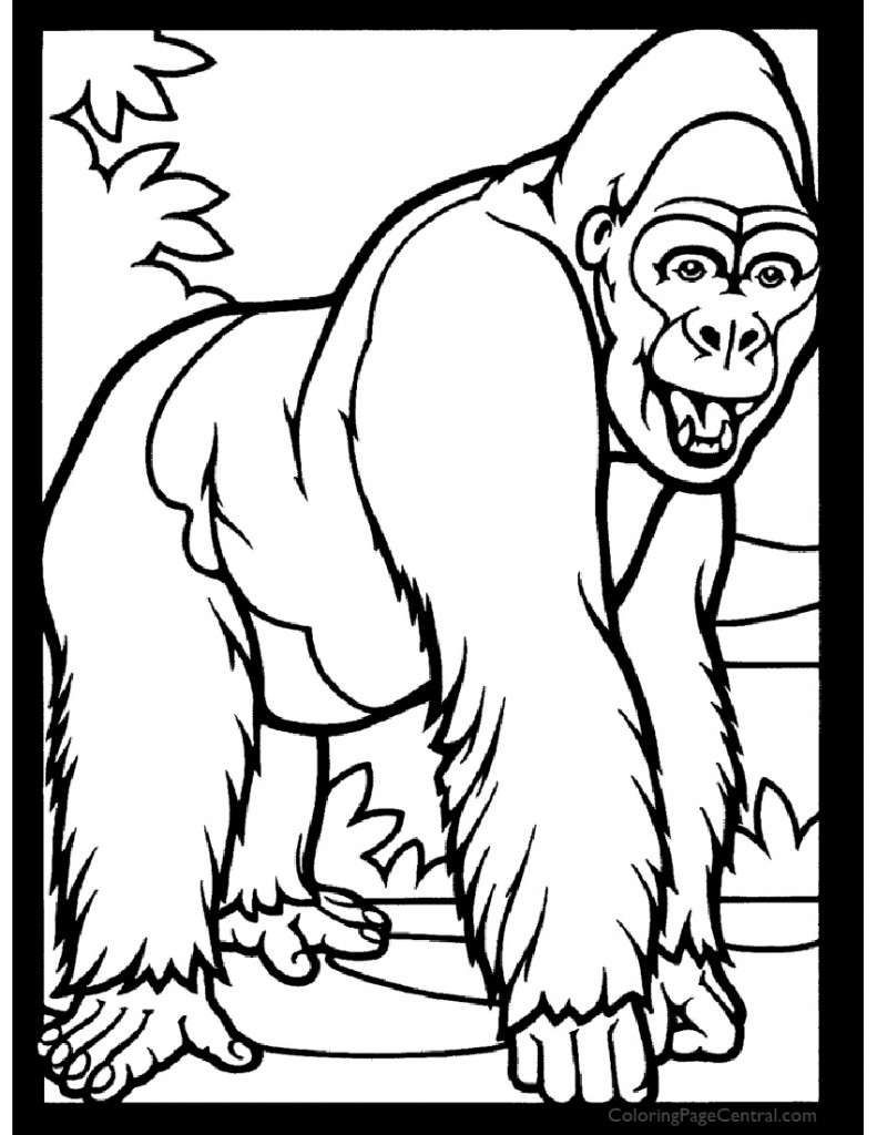 Gorilla 01 Coloring Page