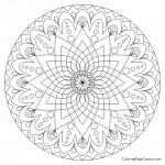 Mandala - Circle 02 Coloring Page