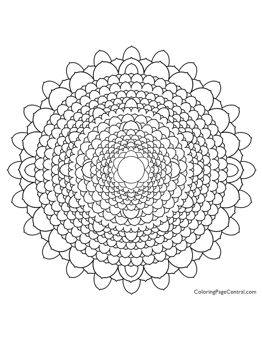 mandala u2013 circle 03 coloring page coloring page central