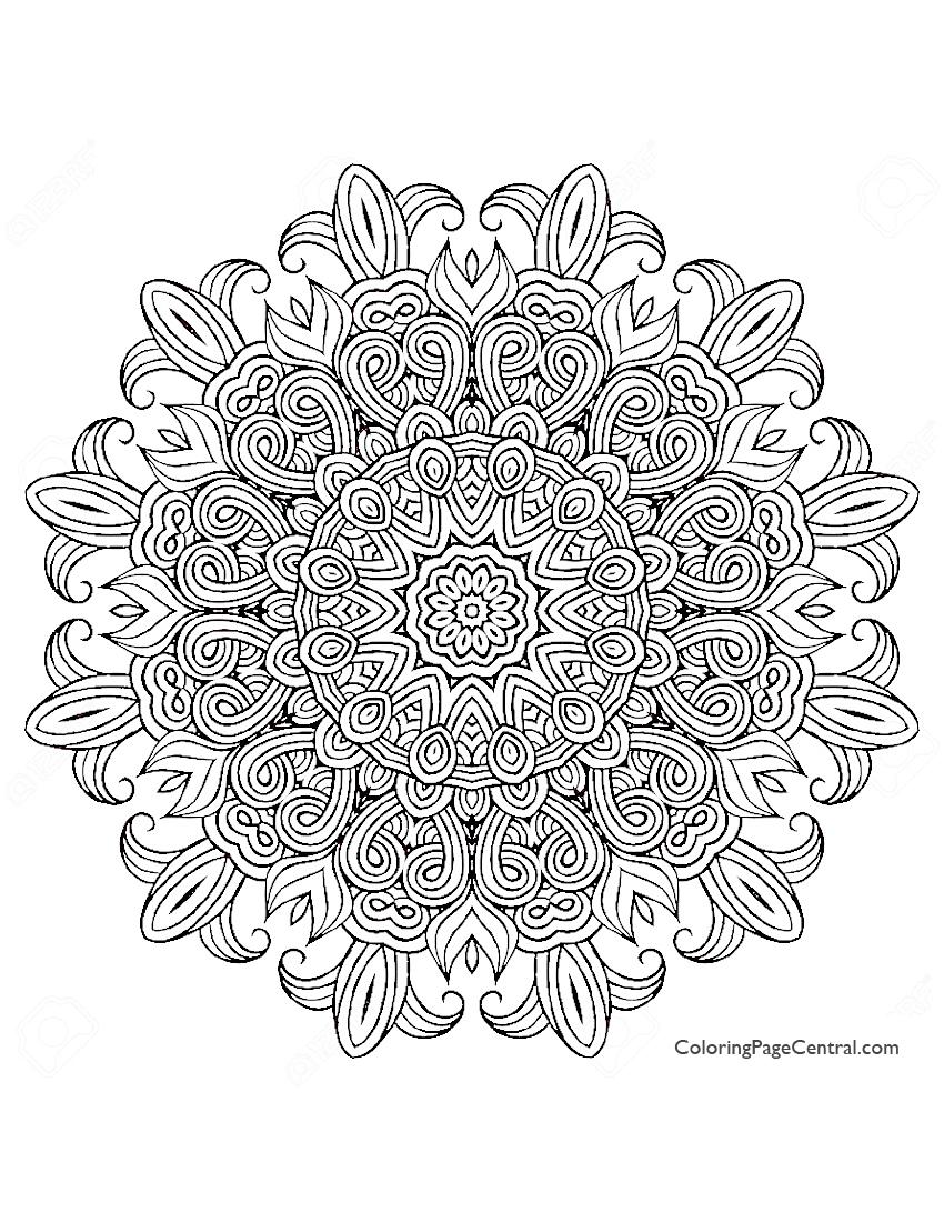 Mandala Circle 04 Coloring Page Coloring Page Central Circle Coloring Pages
