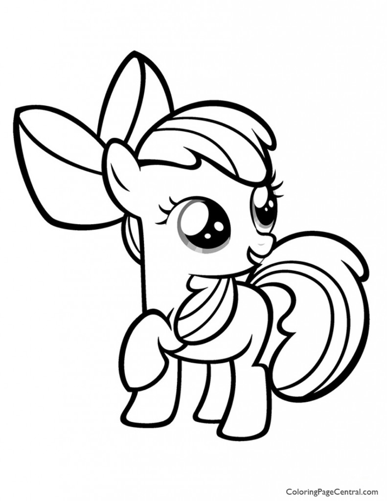 My Little Pony - Apple Bloom 01 Coloring Page