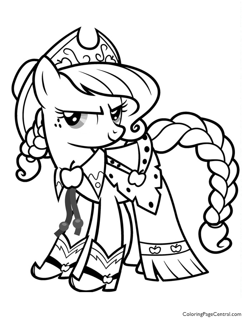 My Little Pony Applejack 01 Coloring Page Coloring Page Central