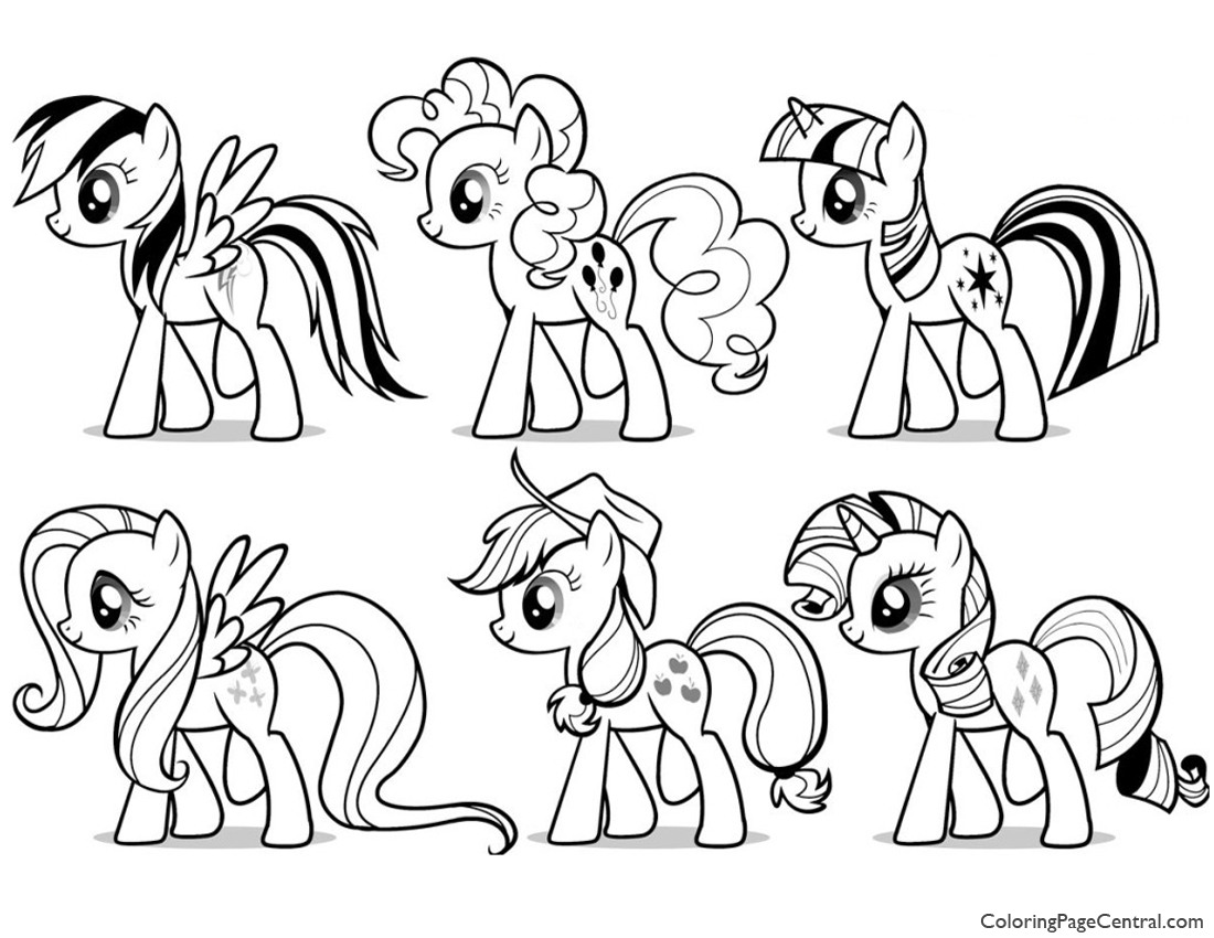 My Little Pony Friendship Is Magic 03 Coloring Page