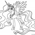 My Little Pony - Princess Celestia 01 Coloring Page