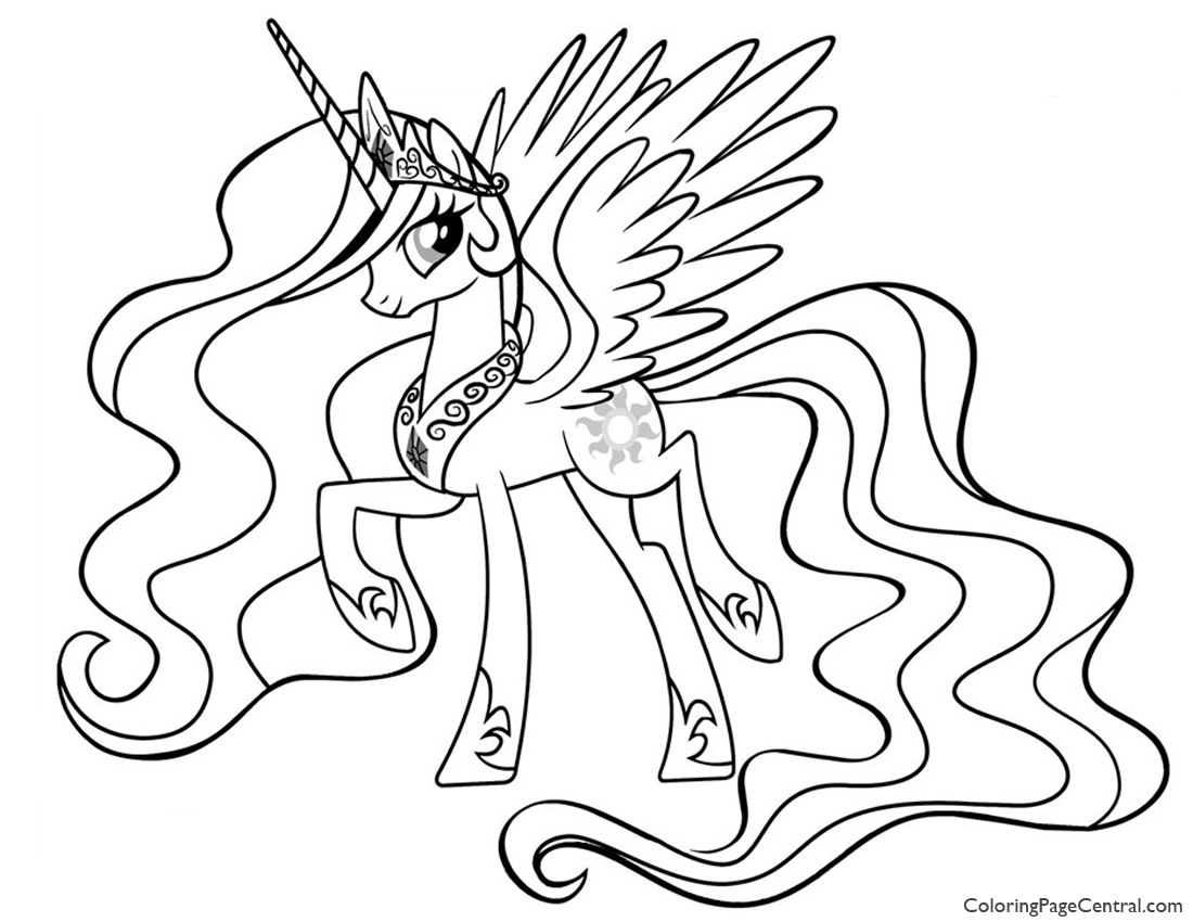 My Little Pony – Princess Celestia 01 Coloring Page | Coloring ...