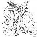 My Little Pony - Princess Celestia 02 Coloring Page