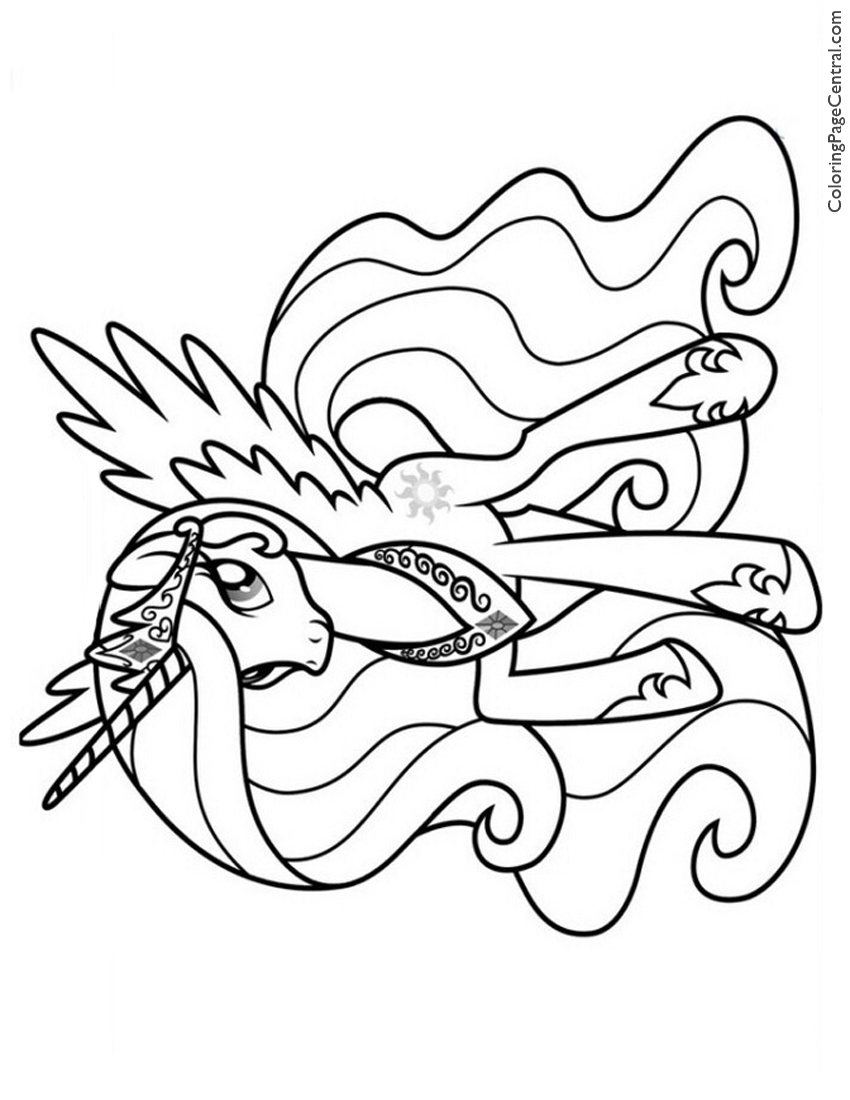 princess horse coloring pages - photo#33