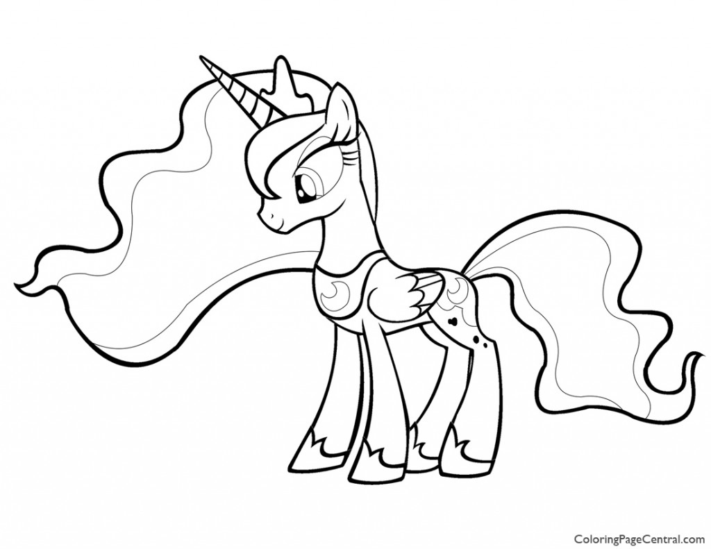 My Little Pony – Princess Luna 01 Coloring Page | Coloring Page Central