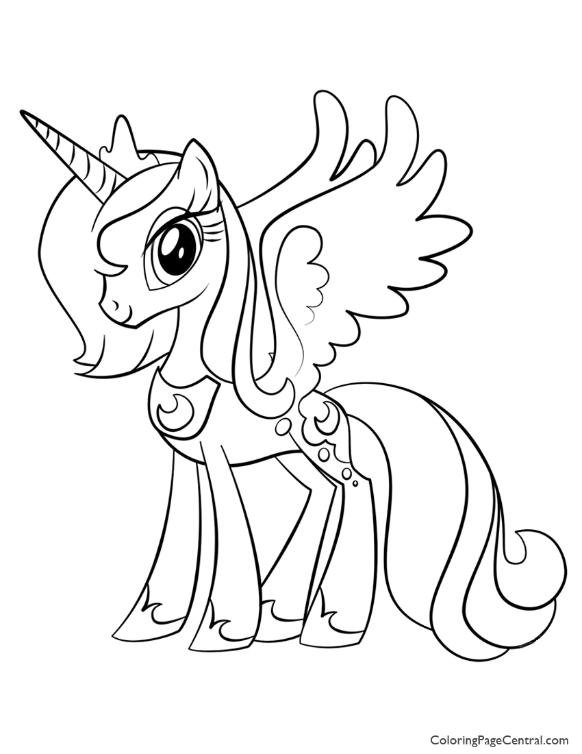 Coloring pages of princess cadence - My Little Pony Princess Luna 02 Coloring Page