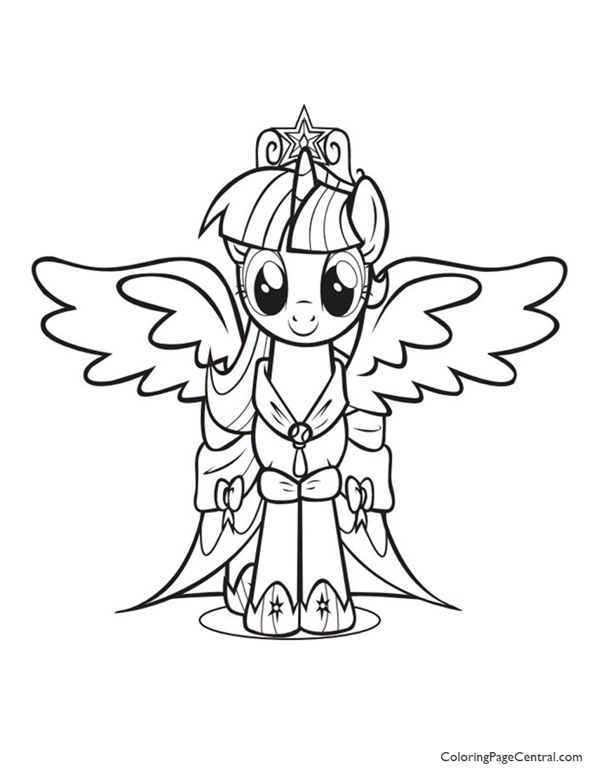 Coloring Pages Of Princess Twilight Sparkle : My little pony princess twilight sparkle coloring