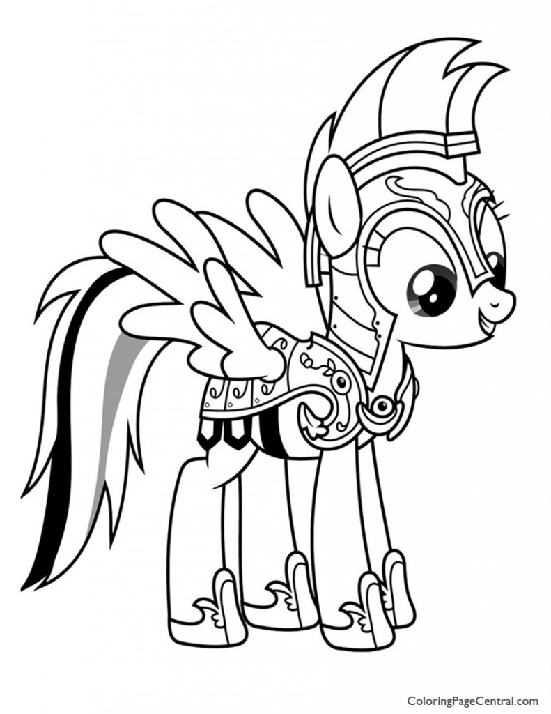 My Little Pony - Rainbow Dash 02 Coloring Page