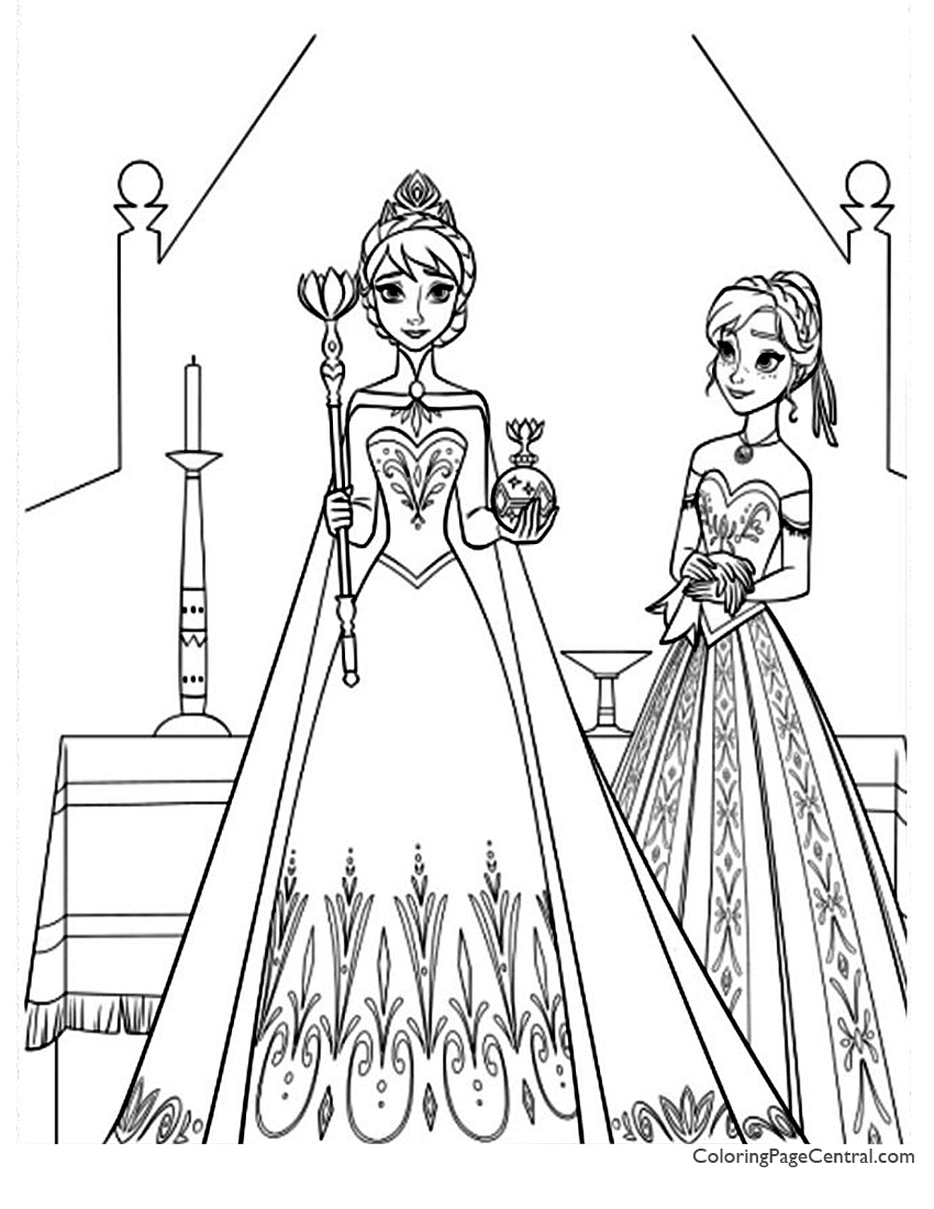 frozen 10 coloring page coloring page central