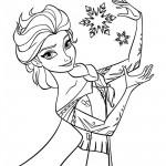 Frozen - Elsa 01 Coloring Page