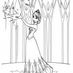 Frozen - Elsa 02 Coloring Page