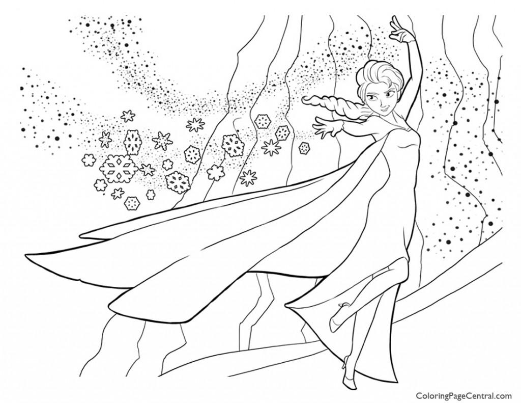 Free coloring pages frozen - Frozen Elsa 04 Coloring Page