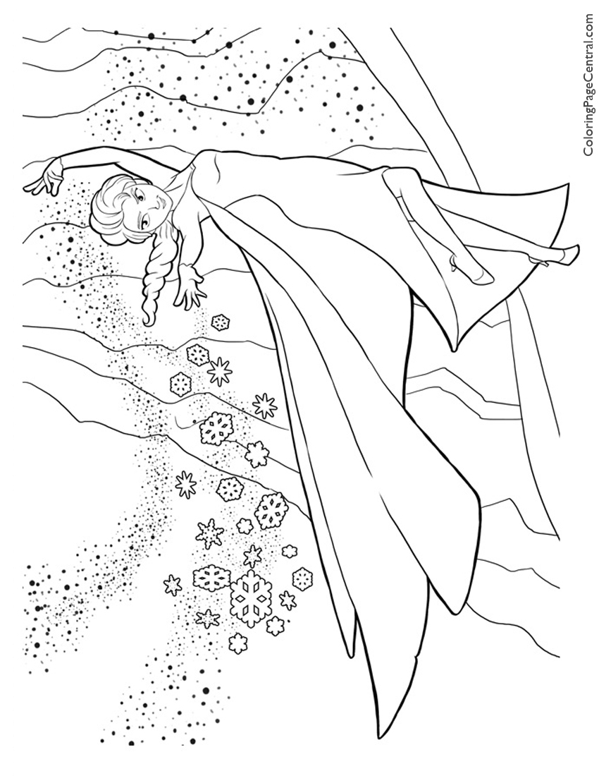 frozen elsa 04 coloring page - Frozen Printable Coloring Pages