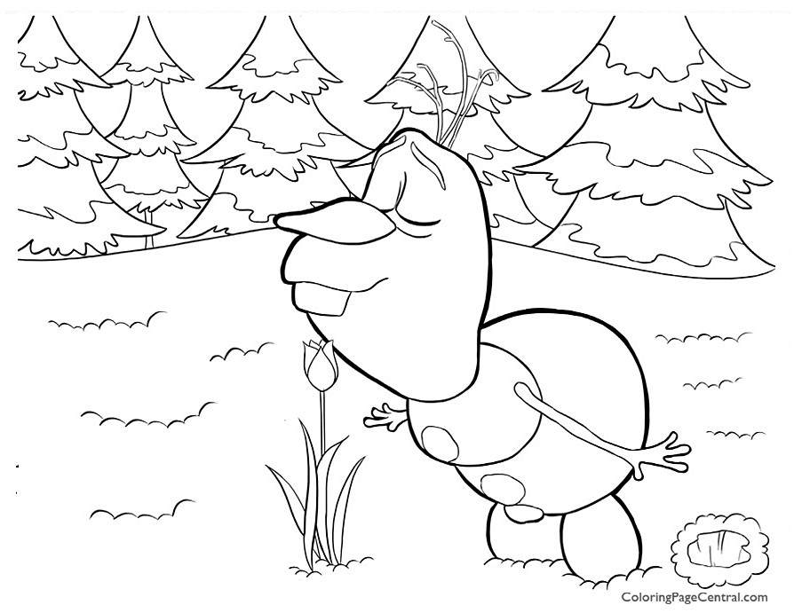 Frozen - Olaf 04 Coloring Page