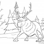 Frozen - Sven 01 Coloring Page