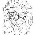 Pokemon - Brock Coloring Page 01