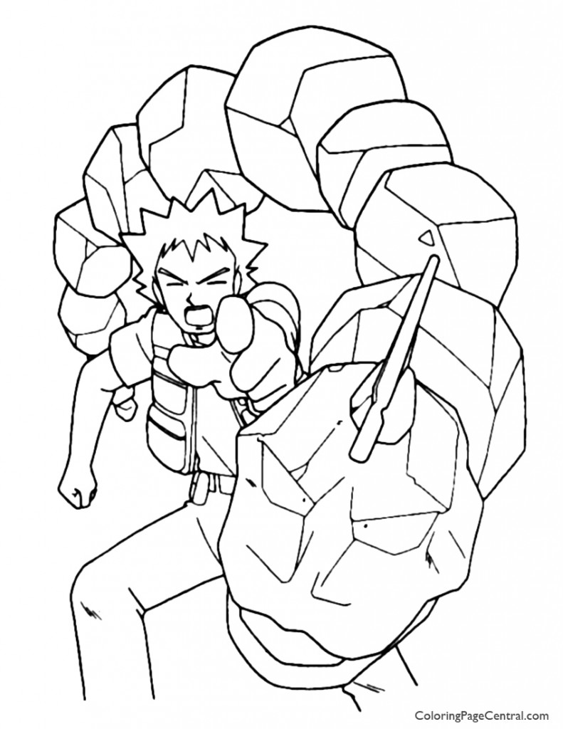 Pokemon - Brock Coloring Page 01