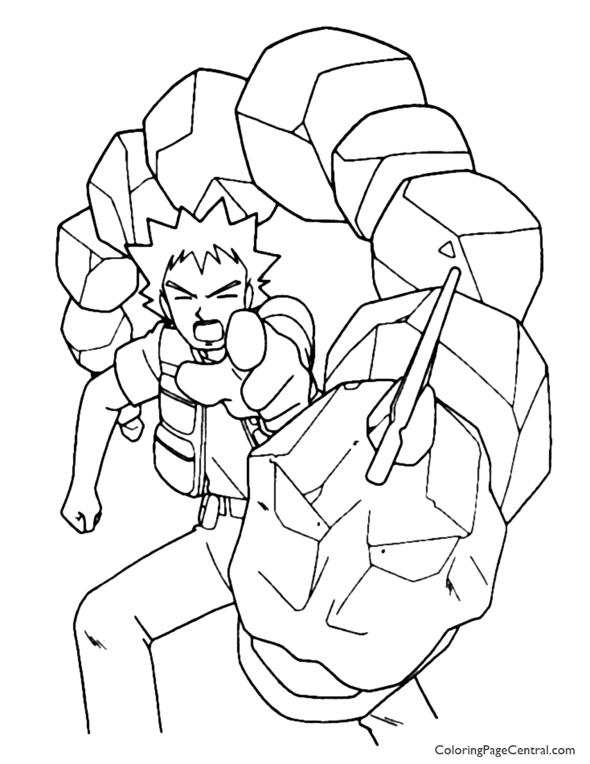 pokemon u2013 brock coloring page 01 coloring page central
