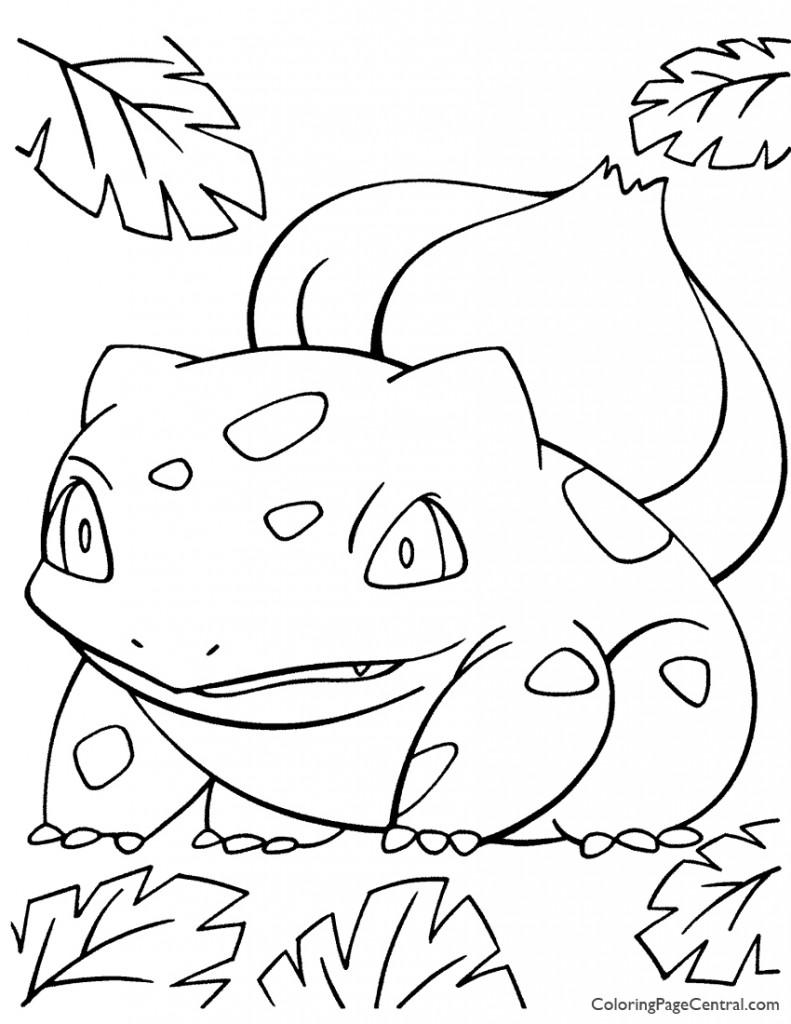 Pokemon - Bulbasaur Coloring Page 01
