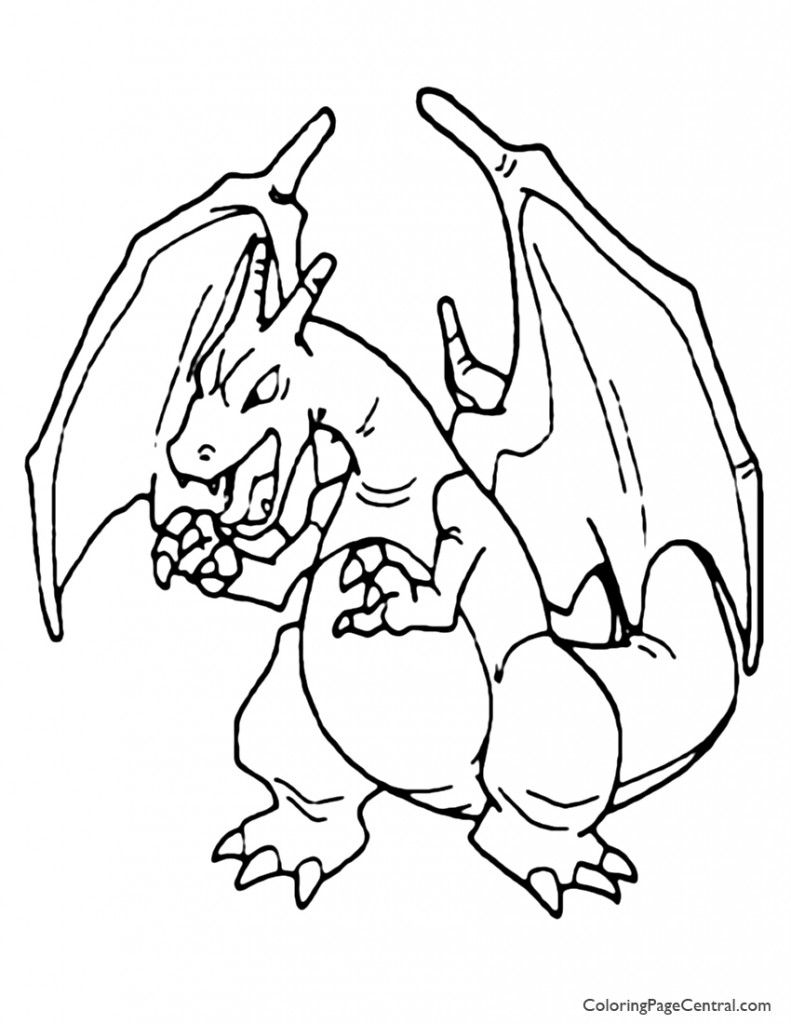 Pokemon - Charizard Coloring Page 01