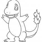 Pokemon - Charmander Coloring Page 01