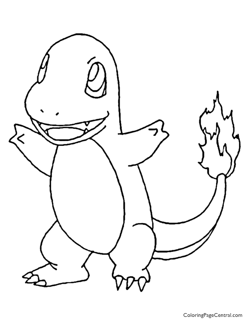 pokemon ? charmander coloring page 01 | coloring page central - Pokemon Charmander Coloring Pages