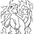 Pokemon - Charmeleon Coloring Page 01