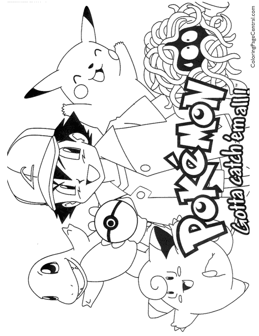 Pokemon Coloring Page 01 | Coloring Page Central