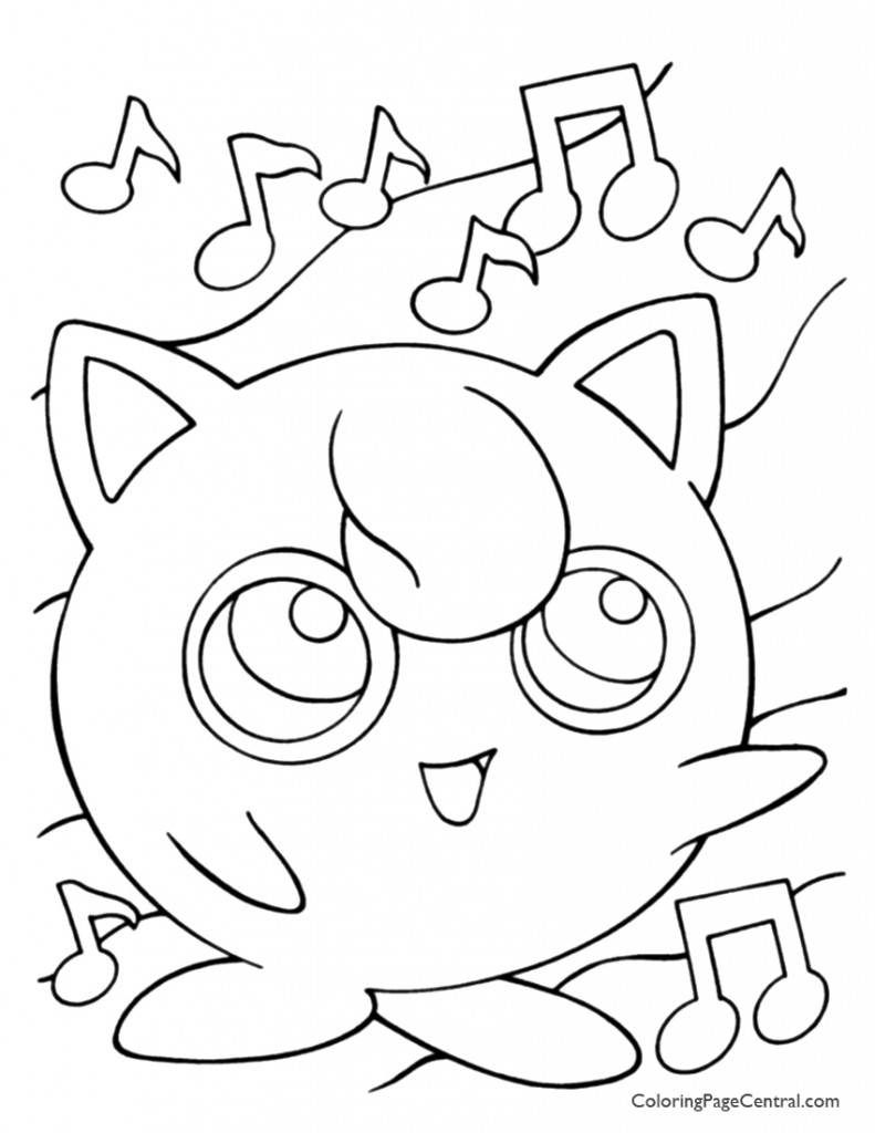 Pokemon - Jigglypuff Coloring Page 01