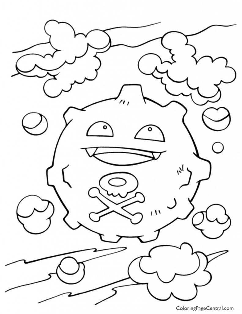 Pokemon - Koffing Coloring Page 01