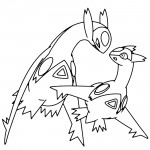 Pokemon - Latias and Latios Coloring Page 01