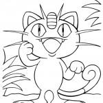 Pokemon - Meowth Coloring Page 01