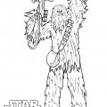 Star Wars - Chewbacca Coloring Page