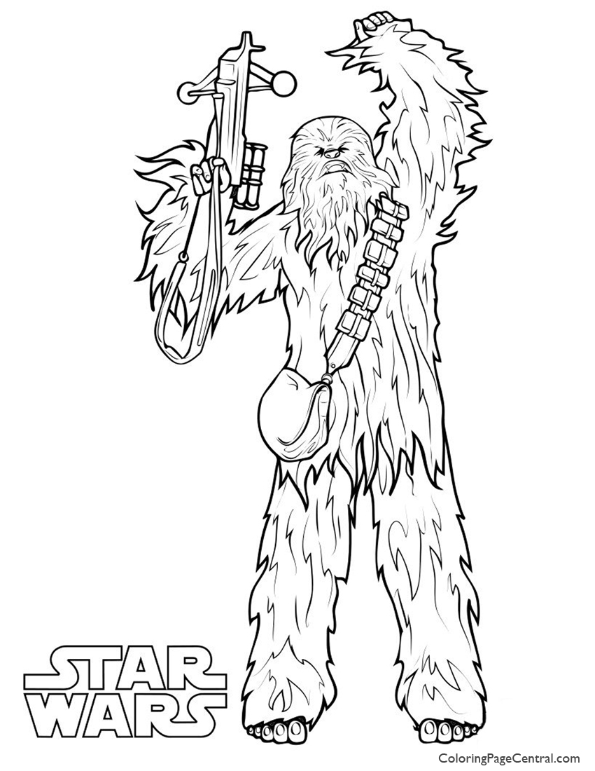 star wars u2013 chewbacca coloring page coloring page central