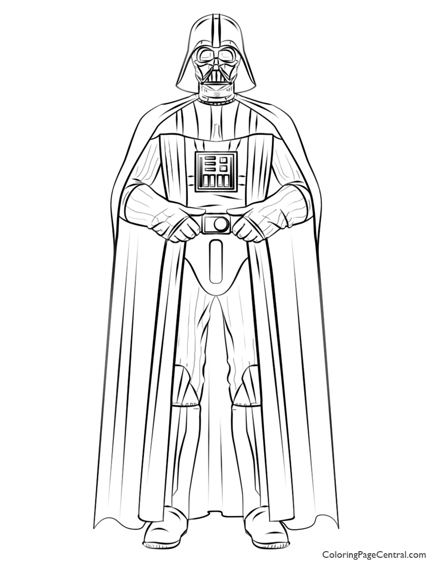 Star Wars Darth Vader 01 Coloring Page Coloring Page Central