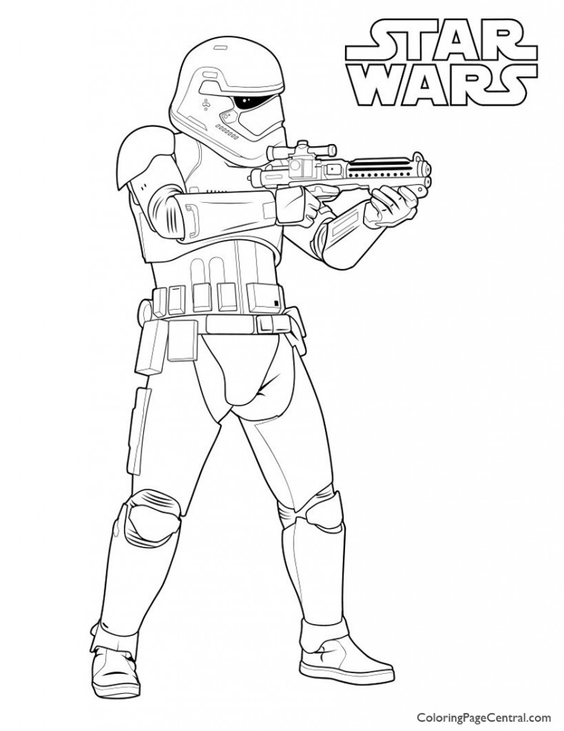 Star Wars - First Order Storm Trooper Coloring Page