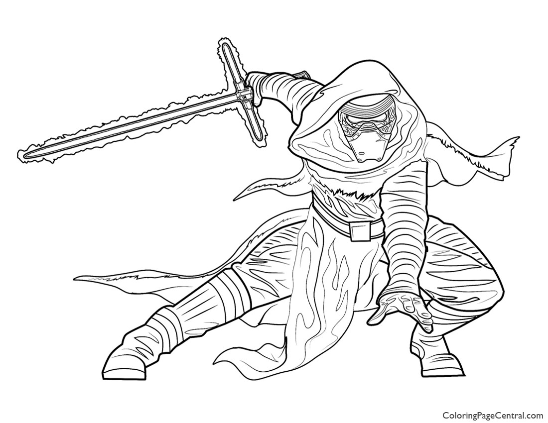 Star Wars Kylo Ren Coloring Page