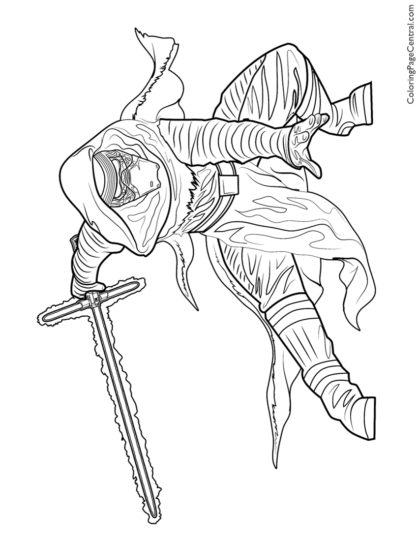 Coloring Pages Kylo Ren : Kylo ren coloring pages