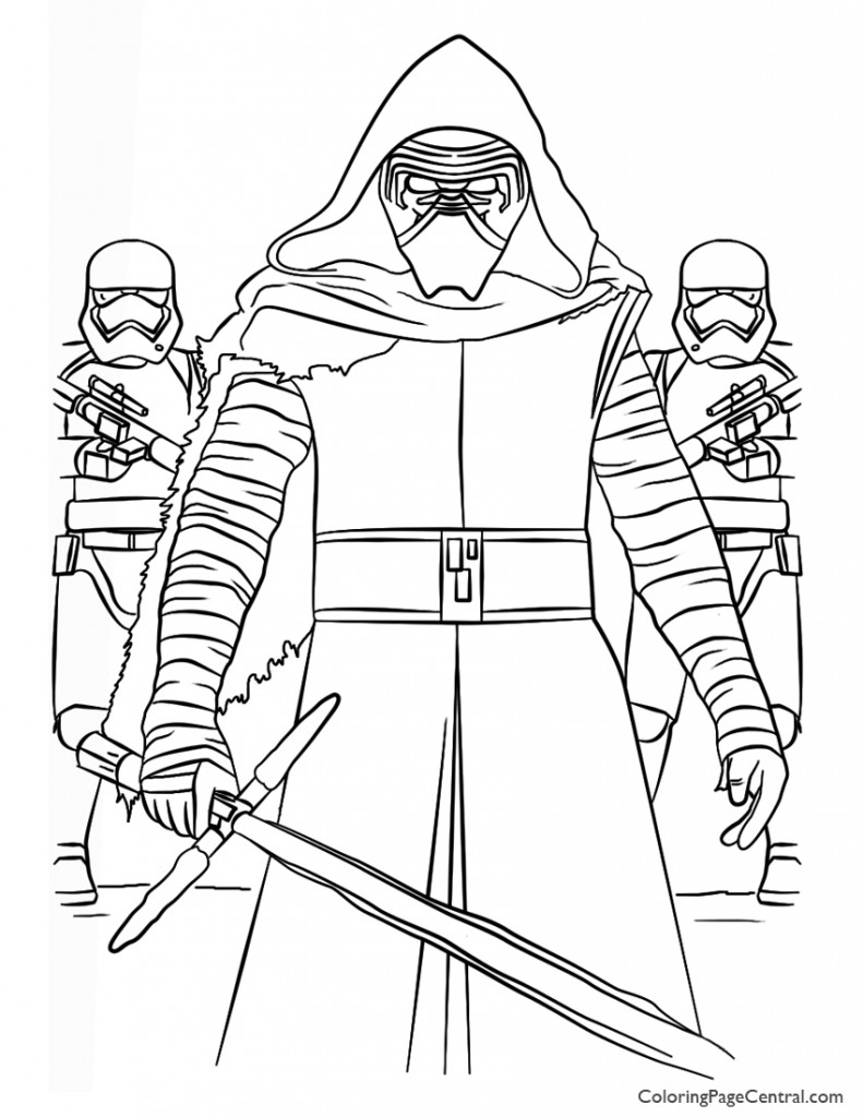 Star Wars - Kylo Ren and First Order Coloring Page