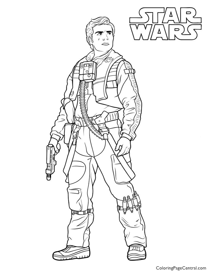 star wars u2013 poe dameron coloring page coloring page central
