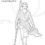 Star Wars - Rey 01 Coloring Page
