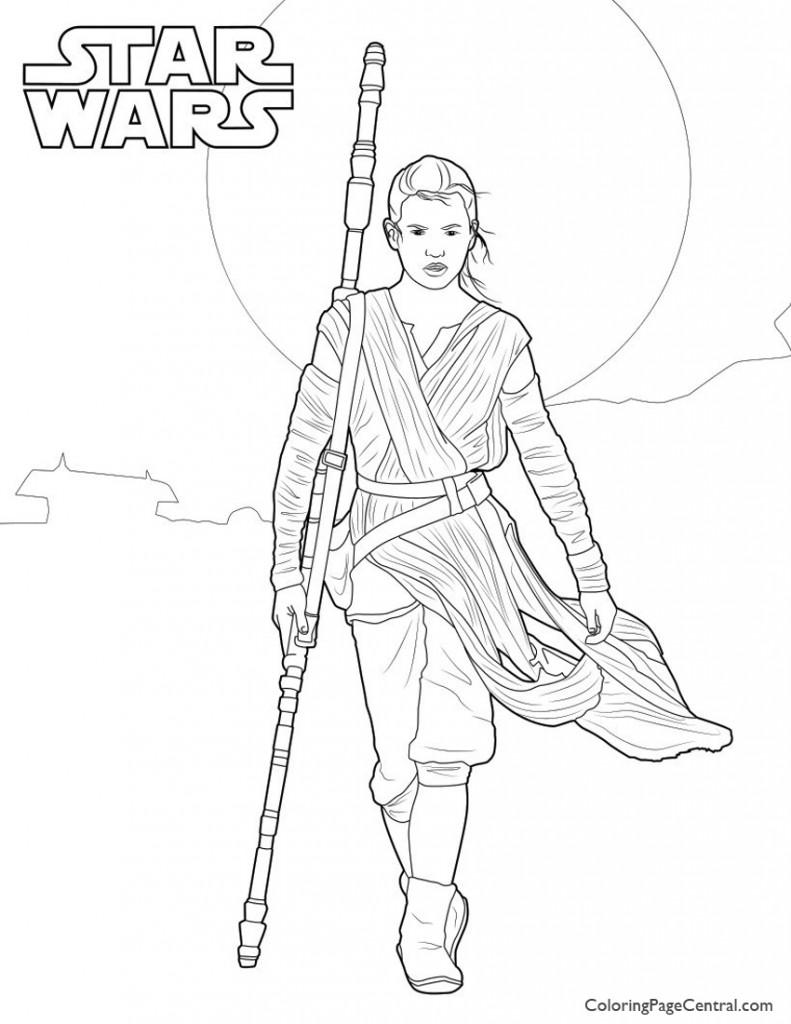 Star Wars - Rey 01 Coloring Page