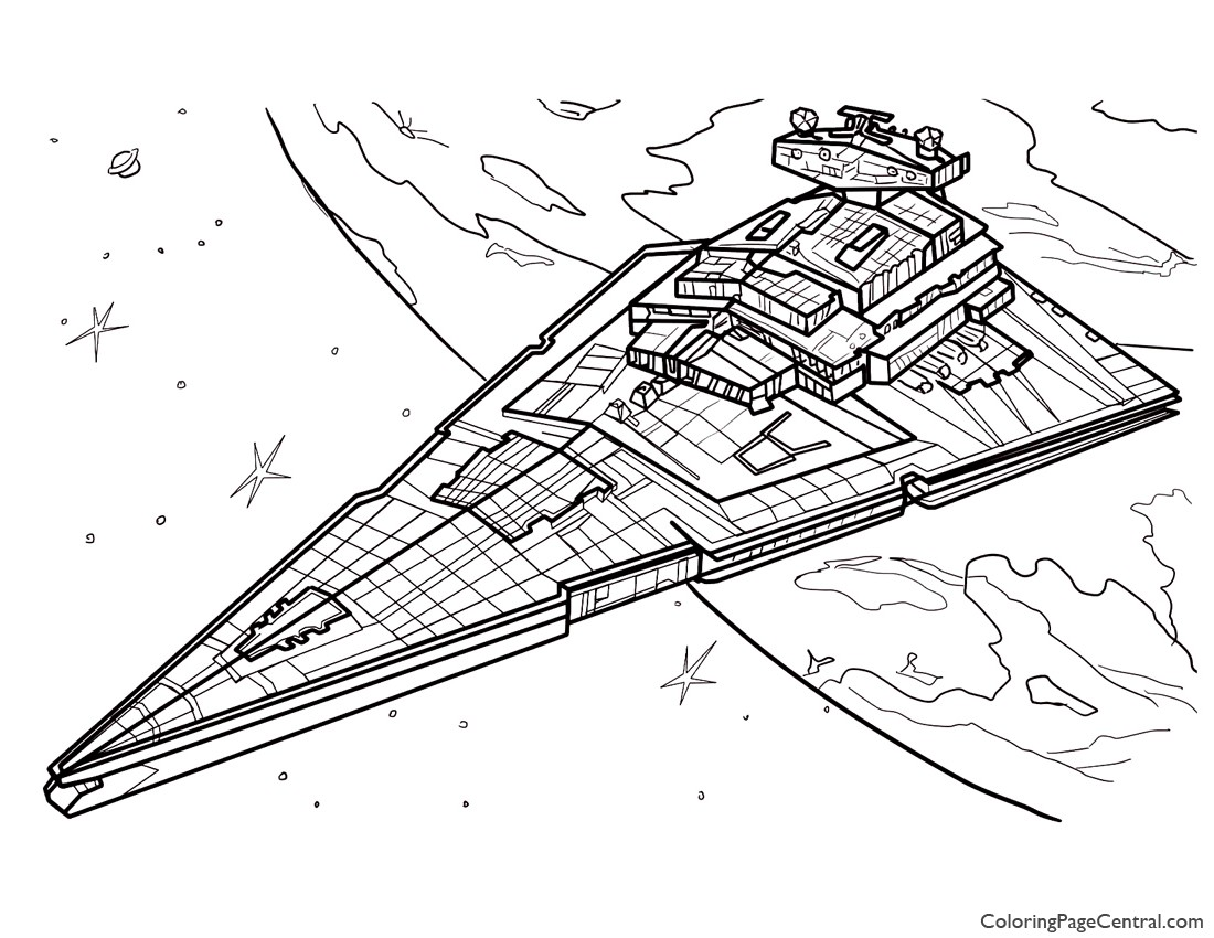 star wars u2013 star destroyer coloring page coloring page central