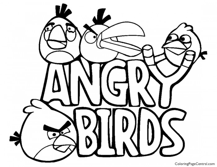 Angry Birds 01 Coloring Page