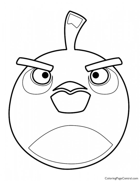 Angry Birds Bomb The Black Bird 01 Coloring Page