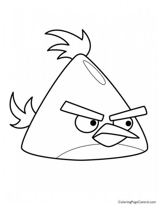 Angry Birds - Chuck the Yellow Bird 01 Coloring Page